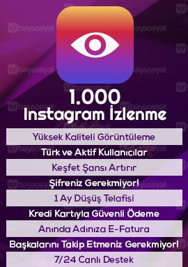 1000 instagram izlenme