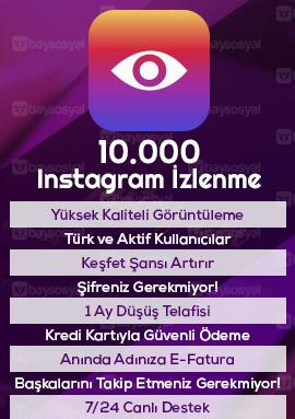 10000 instagram izlenme