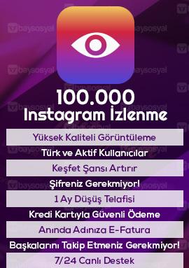 100000 instagram izlenme