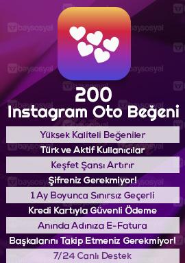 200 instagram otomatik beğeni