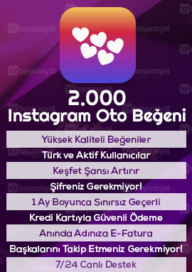 2000 instagram otomatik beğeni