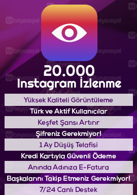 20000 instagram izlenme