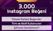 3000 instagram beğeni