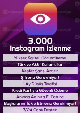 3000 instagram izlenme