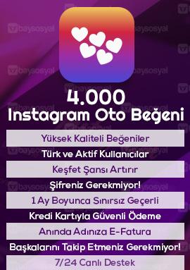 4000 instagram otomatik beğeni