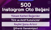 500 instagram otomatik beğeni