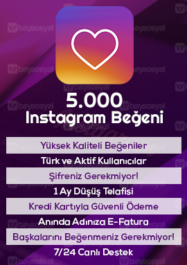 5000 instagram beğeni