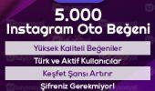 5000 instagram otomatik beğeni