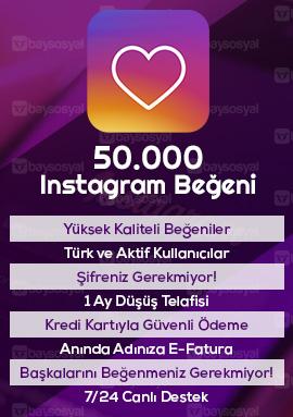 50000 instagram beğeni