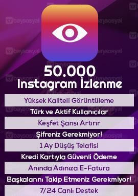 50000 instagram izlenme