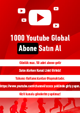 1000 youtube global abone satın al
