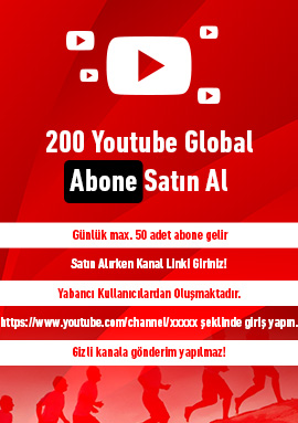 200 youtube global abone satın al