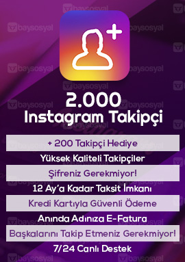 2000 instagram takipçi satın al