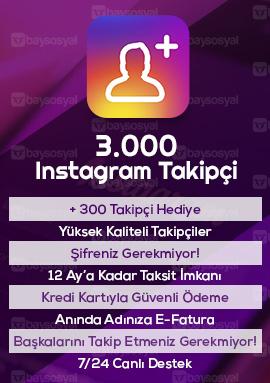 3000 instagram takipçi satın al