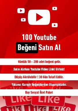 100 youtube beğeni satın al