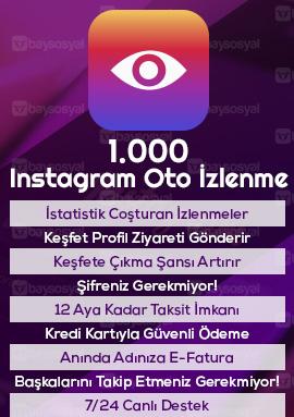 1.000 instagram otomatik video izlenme satın al