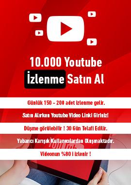 10000 youtube izlenme satın al