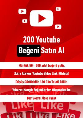 200 youtube beğeni satın al