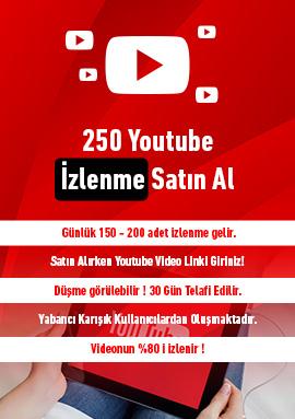 250 youtube izlenme satın al