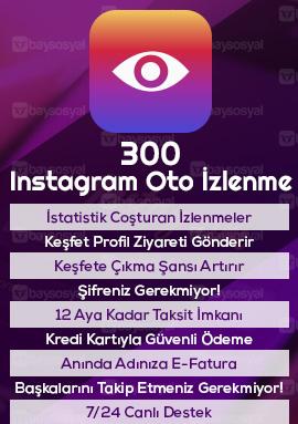 300 instagram otomatik video izlenme satın al
