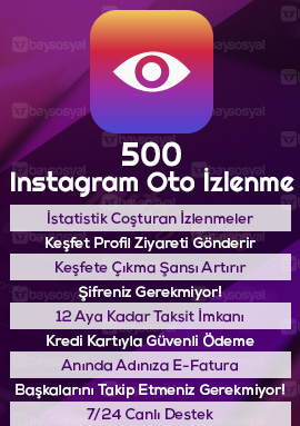 500 instagram otomatik video izlenme satın al