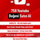 750 youtube beğeni satın al