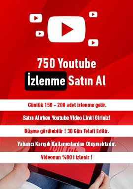 750 youtube izlenme satın al