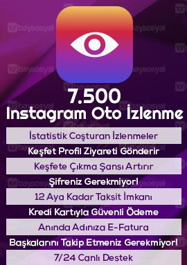 7.500 instagram otomatik video izlenme satın al